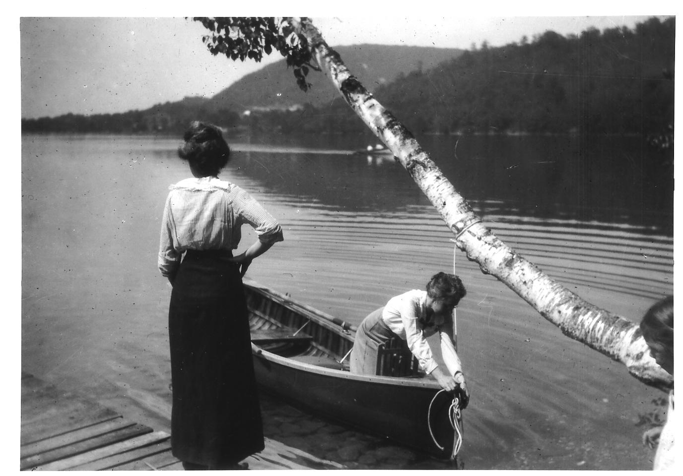 Stella gardiner in boat